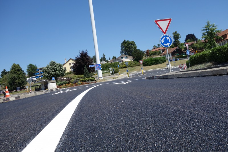 Image Reinforcement of the double roundabout at Marly (canton of Fribourg-Reinforcement of the double roundabout at Marly (canton of Fribourg- Switzerland)